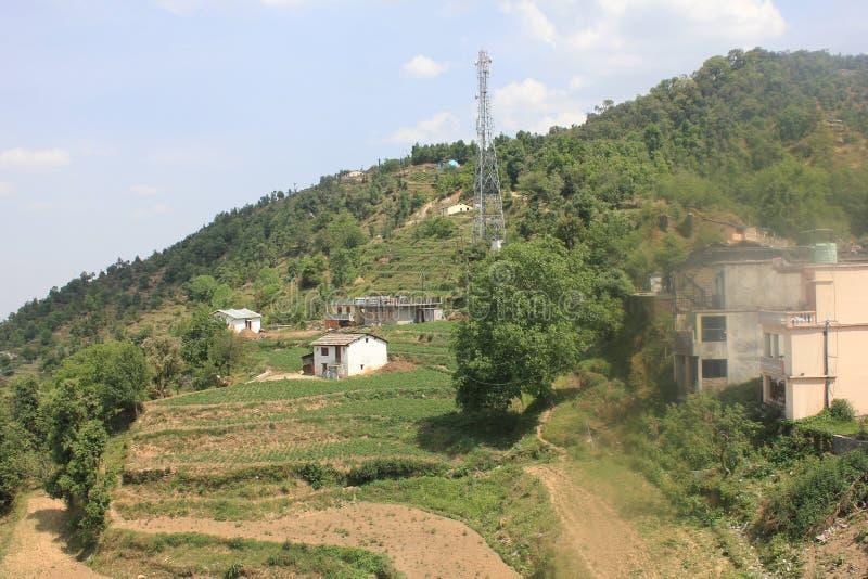 Härliga platser i Mukteshwar i det Uttarakhand landskapet i Indien royaltyfri fotografi