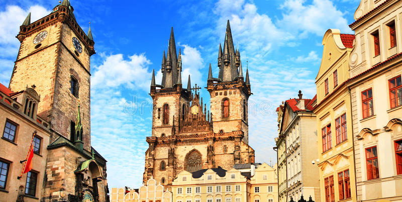 Härliga Prague, Tjeckien arkivfoton