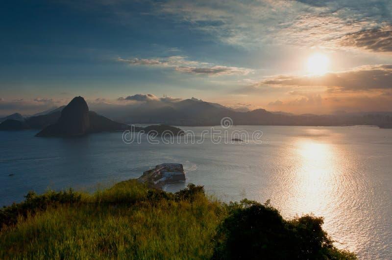 Härliga Rio de Janeiro Sunset royaltyfria bilder