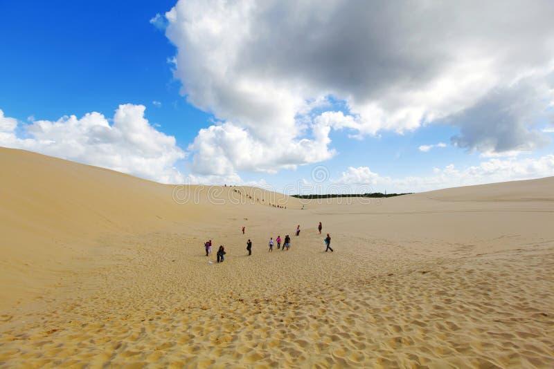 Härliga sanddyner, Australien. arkivbild
