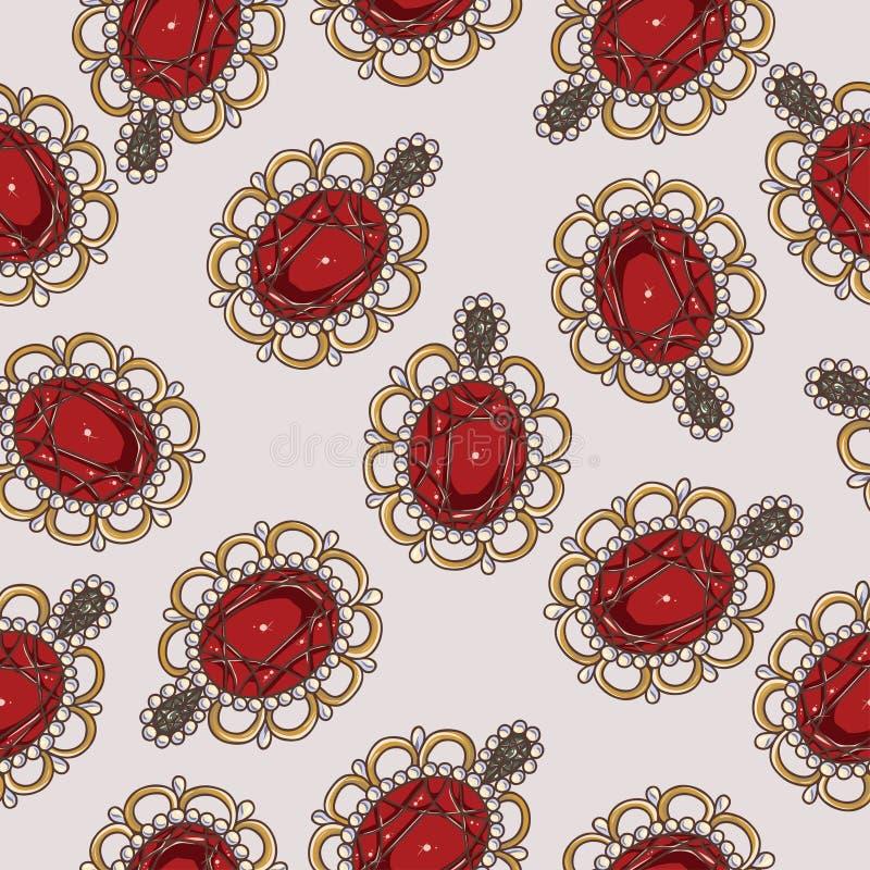 Härliga seamless mönstrar med danar smycken royaltyfri foto