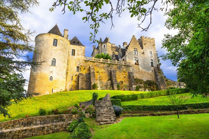 Härliga slottar av Frankrike fotografering för bildbyråer