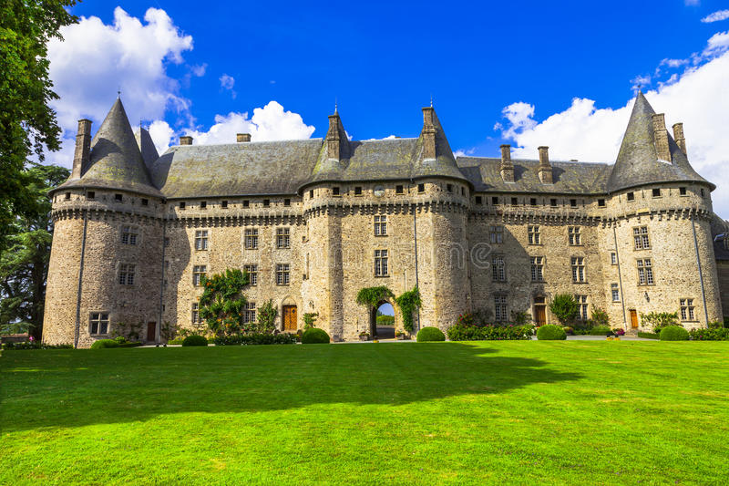 Härliga slottar av Frankrike serier royaltyfria bilder