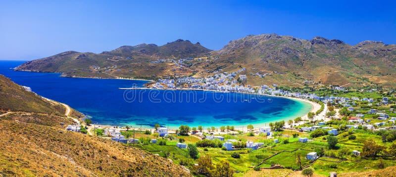 Härliga smaragdstränder av Grekland royaltyfri fotografi
