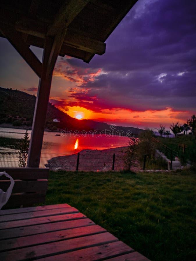 Härliga solnedgångar royaltyfri fotografi