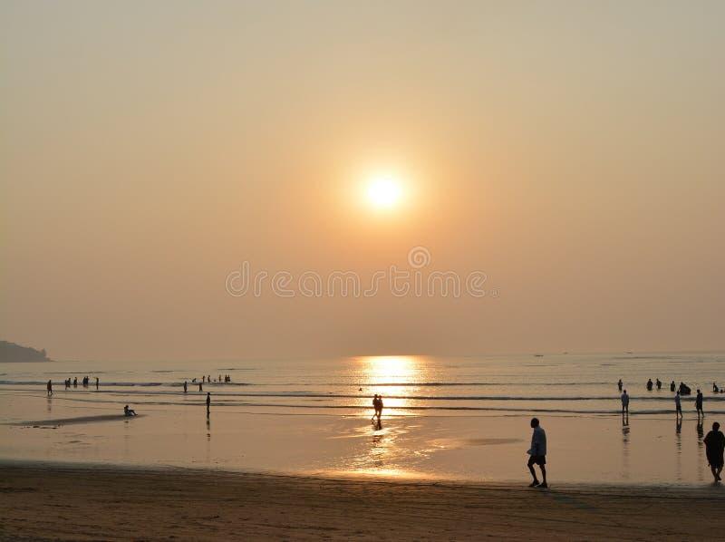 Härliga sommar- och solnedgångsemestrar fotografering för bildbyråer