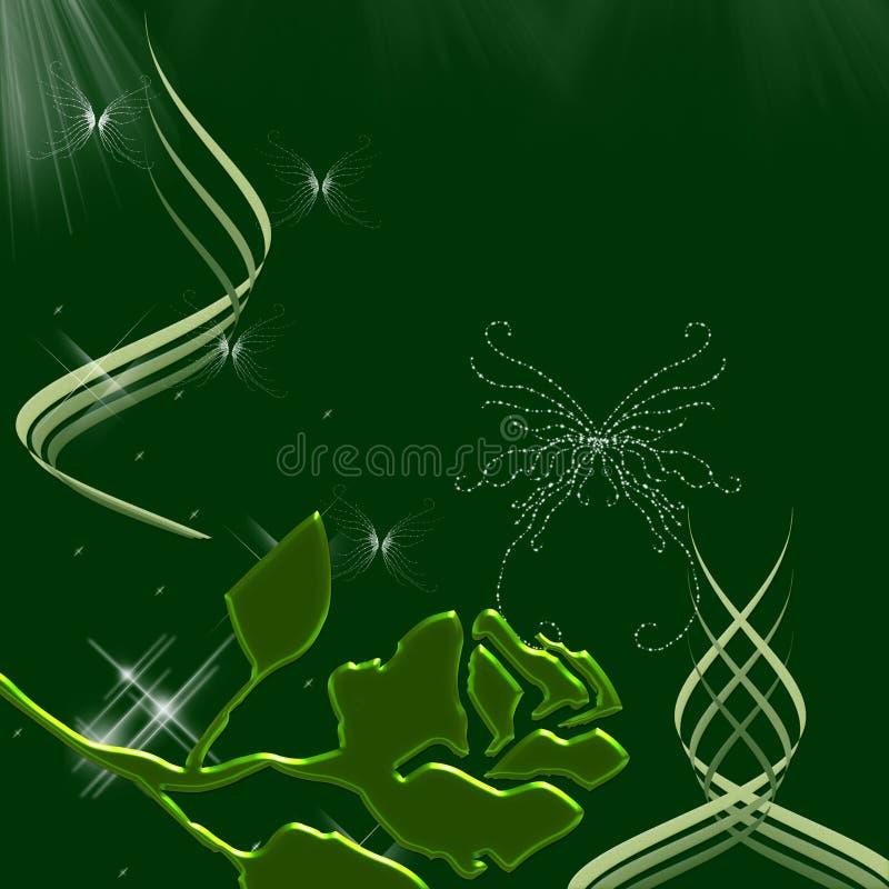 härliga sparkles för fjärilsnighttimesky vektor illustrationer