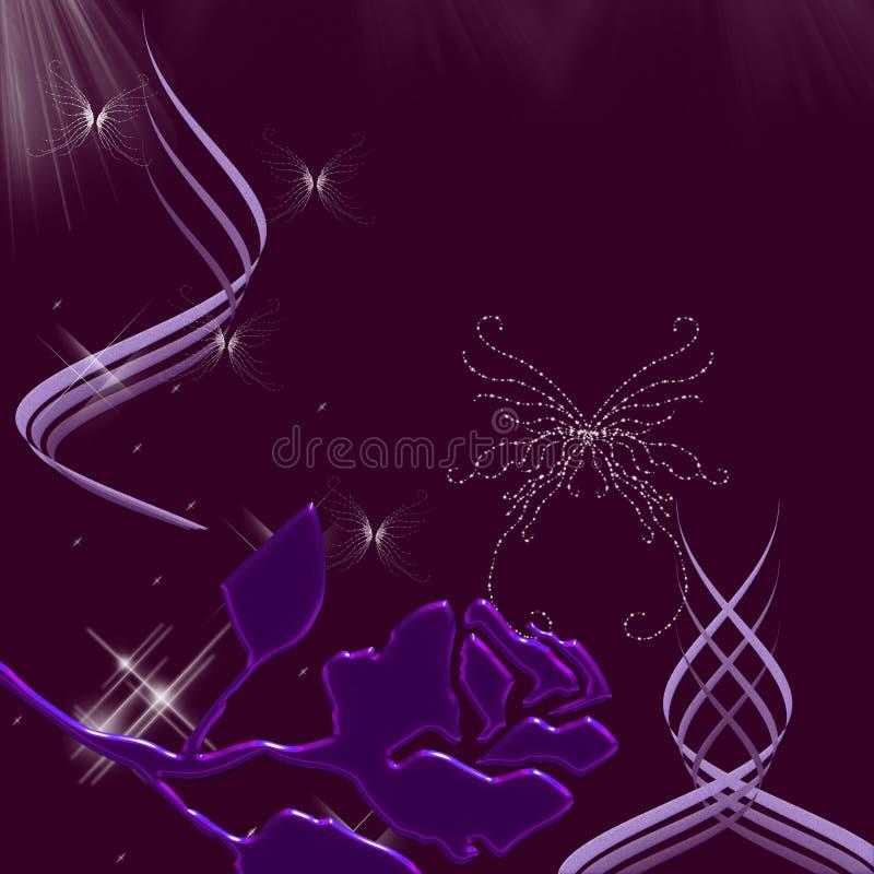 härliga sparkles för fjärilsnighttimesky royaltyfri illustrationer
