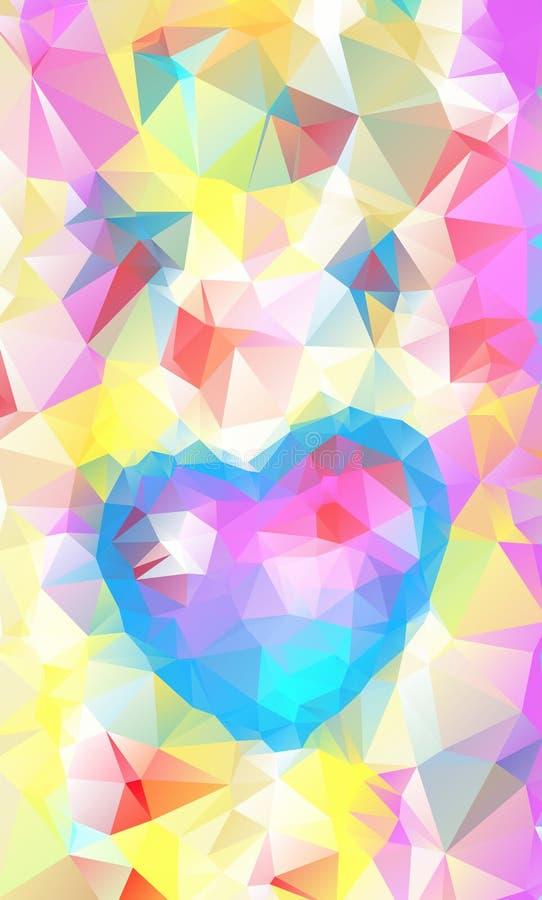 Härliga valentin abstrakt hjärta, vektor royaltyfri illustrationer