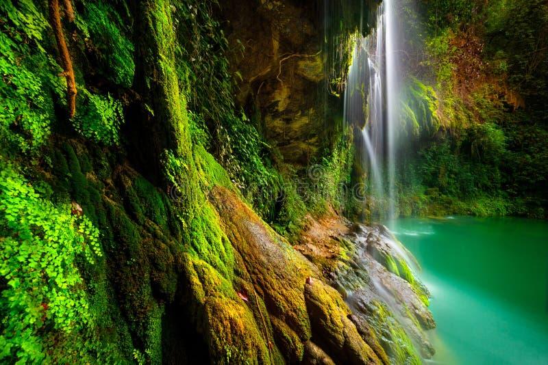 härliga vattenfall fotografering för bildbyråer