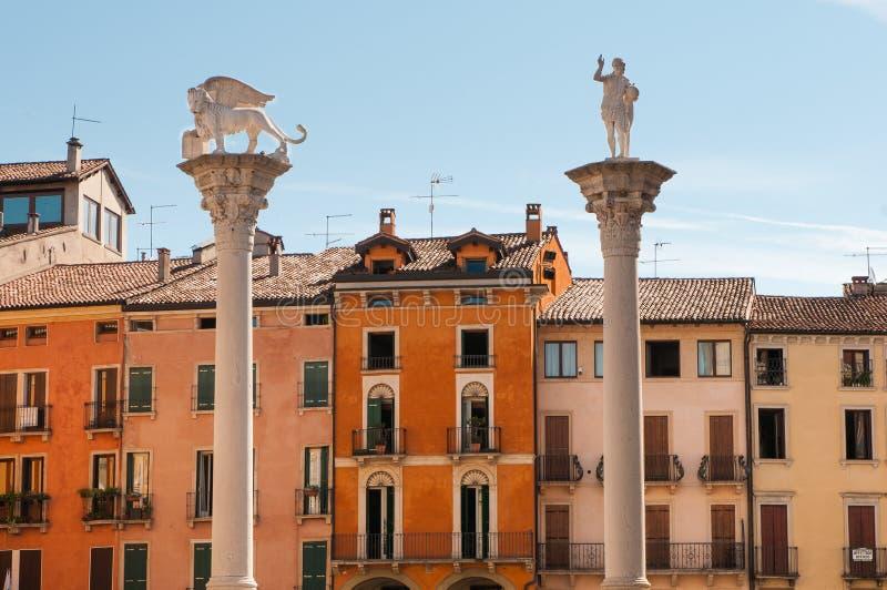 Härliga Vicenza royaltyfria foton