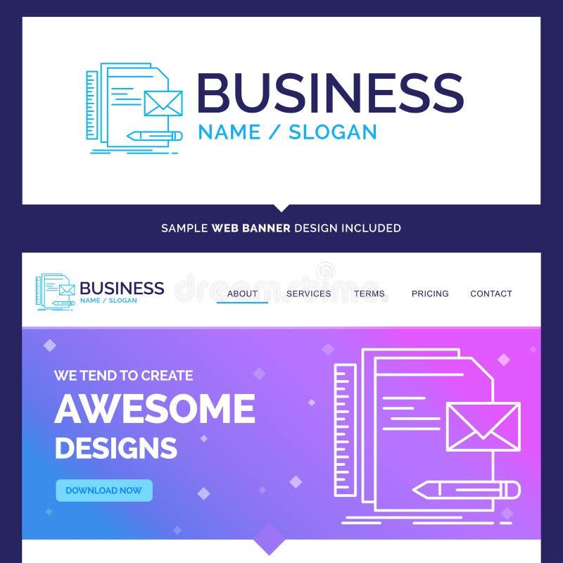 Härligt affärsidémärkesnamnmärke, företag, identitet stock illustrationer