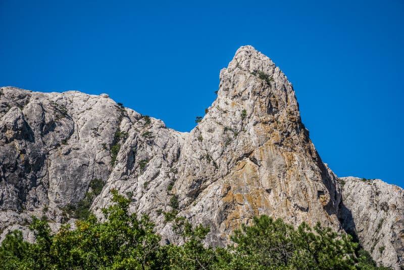 Härligt berglandskap i solig dag arkivfoton