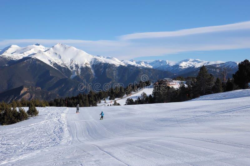 Härligt berglandskap - Vallnord, furstendöme av Andorra, Europa royaltyfri bild