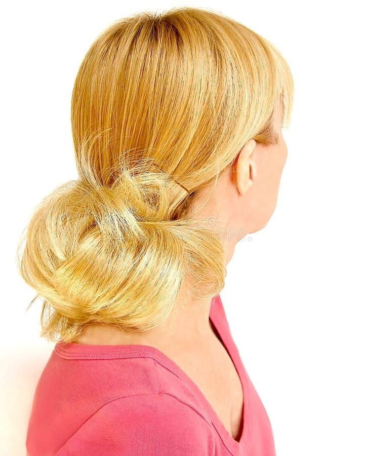 härligt blont hår fotografering för bildbyråer