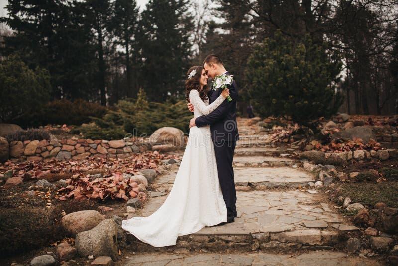 Härligt bröllop, make och fru, vänman royaltyfria foton
