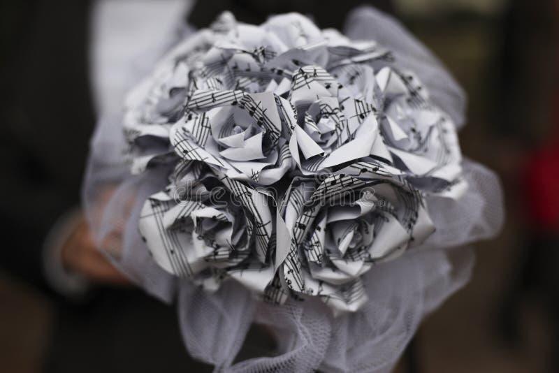 härligt bukettbröllop arkivbild
