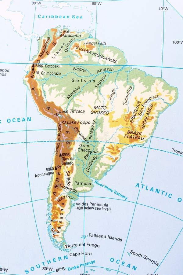 härligt dimensionellt diagram illustration södra tre för 3d Amerika mycket arkivbild