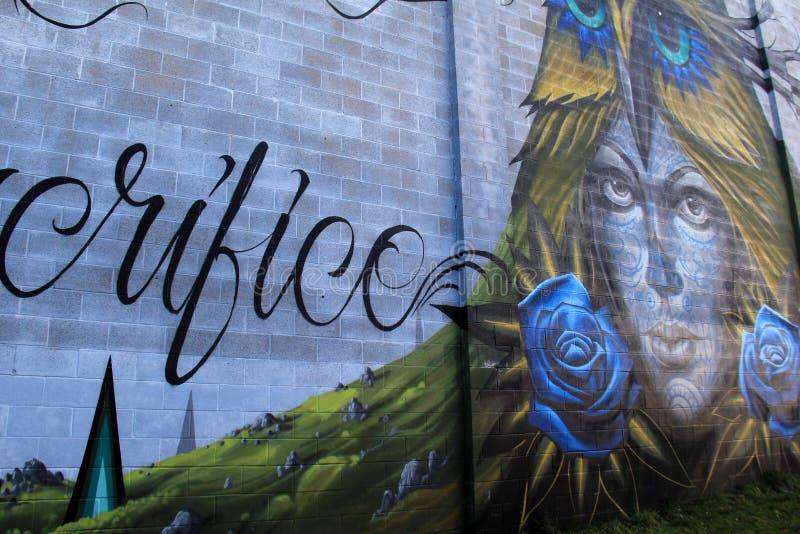 Härligt exempel av hantverk i gatakonst, Rochester, New York, 2017 royaltyfria foton