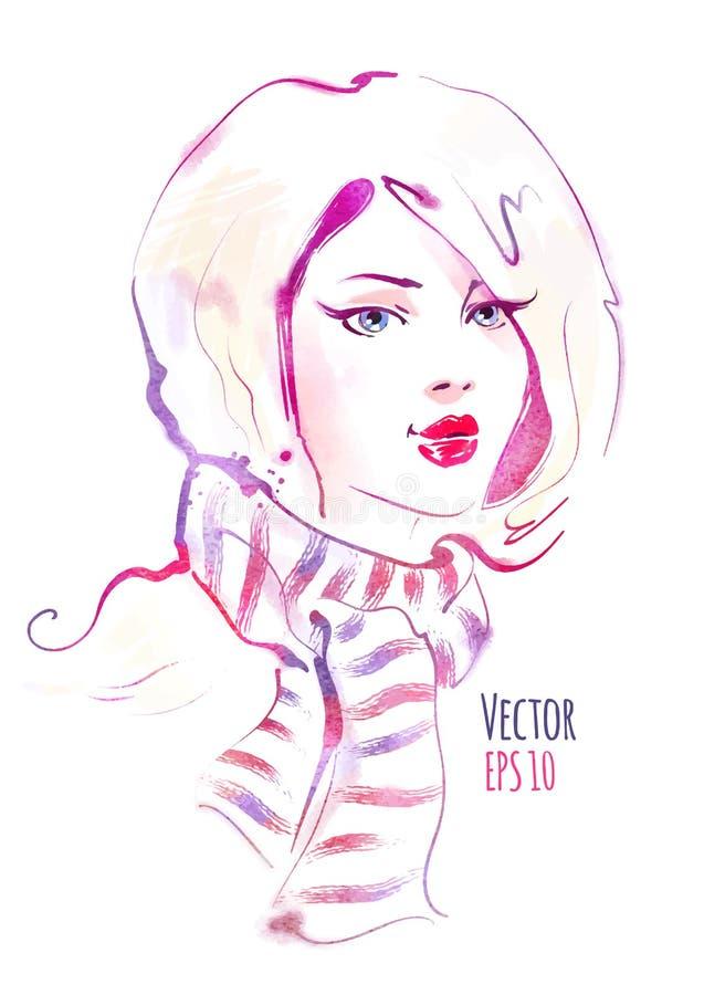 härligt flickabarn vektor illustrationer