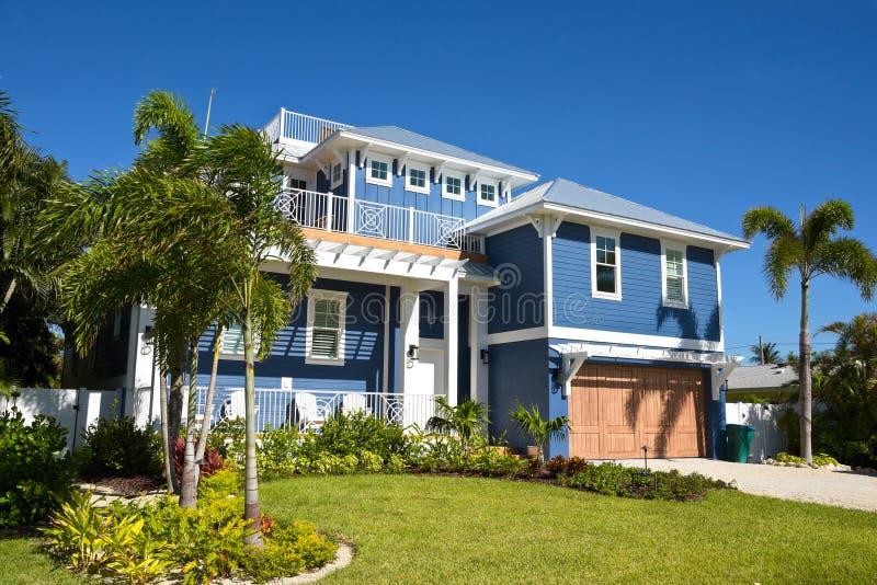 Härligt Florida hus royaltyfri fotografi