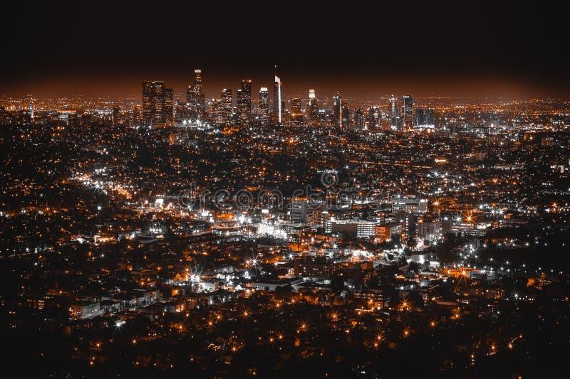 Härligt flyg- skott av Los Angeles arkivbilder