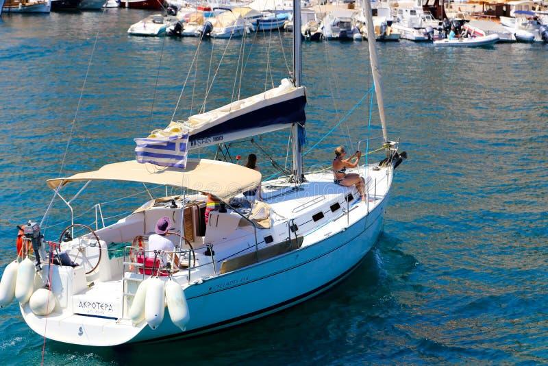 Härligt grekiskt fiske royaltyfri bild