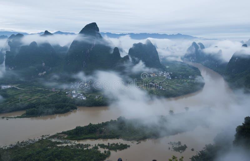Härligt Guilin landskap fotografering för bildbyråer