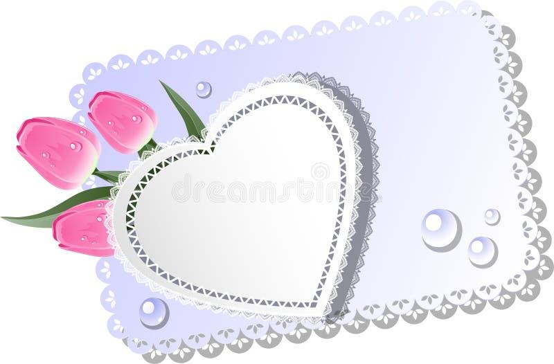 Härligt hälsningskort royaltyfri illustrationer