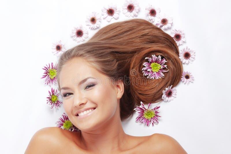 härligt hår fotografering för bildbyråer