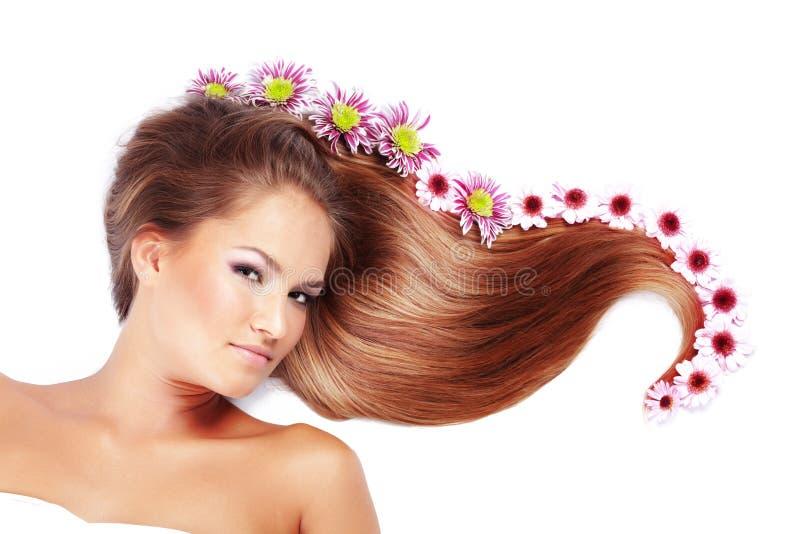 härligt hår royaltyfri fotografi