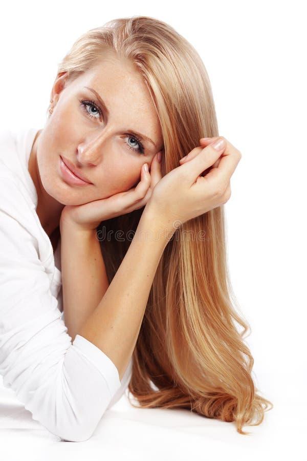 härligt hår royaltyfri bild