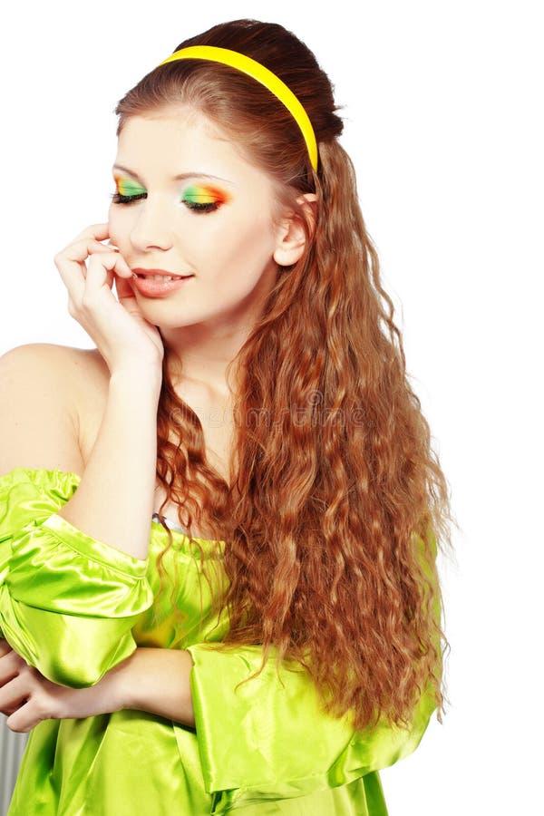 härligt hår royaltyfria foton