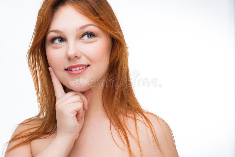 härligt haired rött kvinnabarn arkivfoton