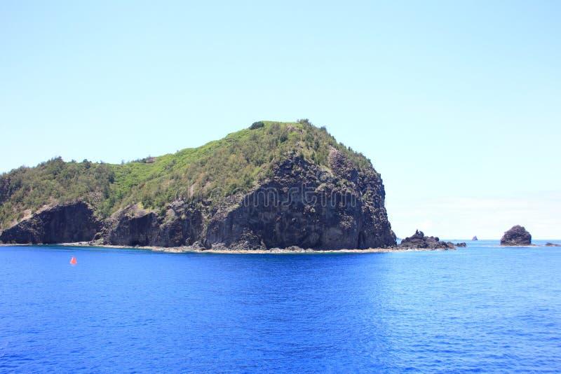 Härligt hav av den Chichijima ön royaltyfri foto