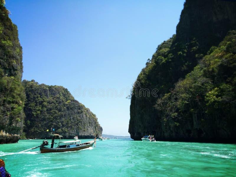 Härligt hav av Thailand arkivbilder