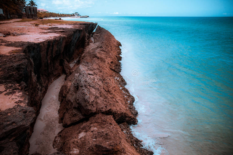 Härligt hav i Caribe arkivbild