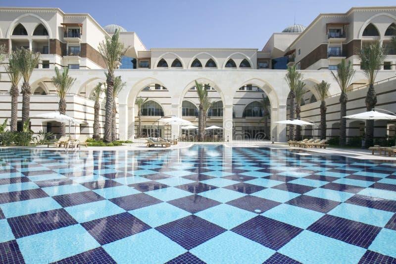 härligt hotell royaltyfri bild