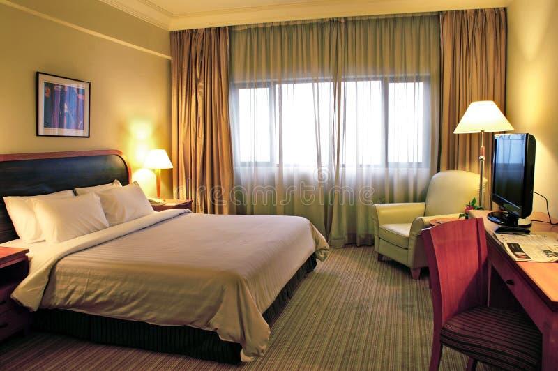 Härligt hotellrum arkivbilder
