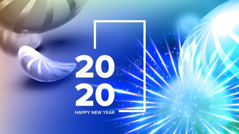 Härligt inbjudankort som firar vektorn 2020 stock illustrationer