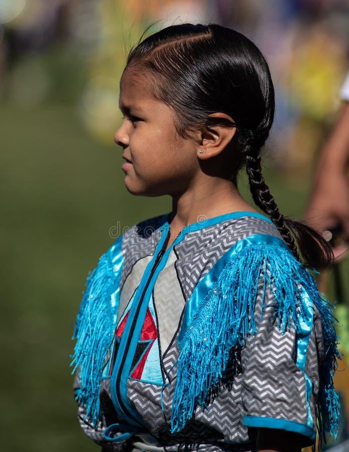 Härligt indianbarn fotografering för bildbyråer