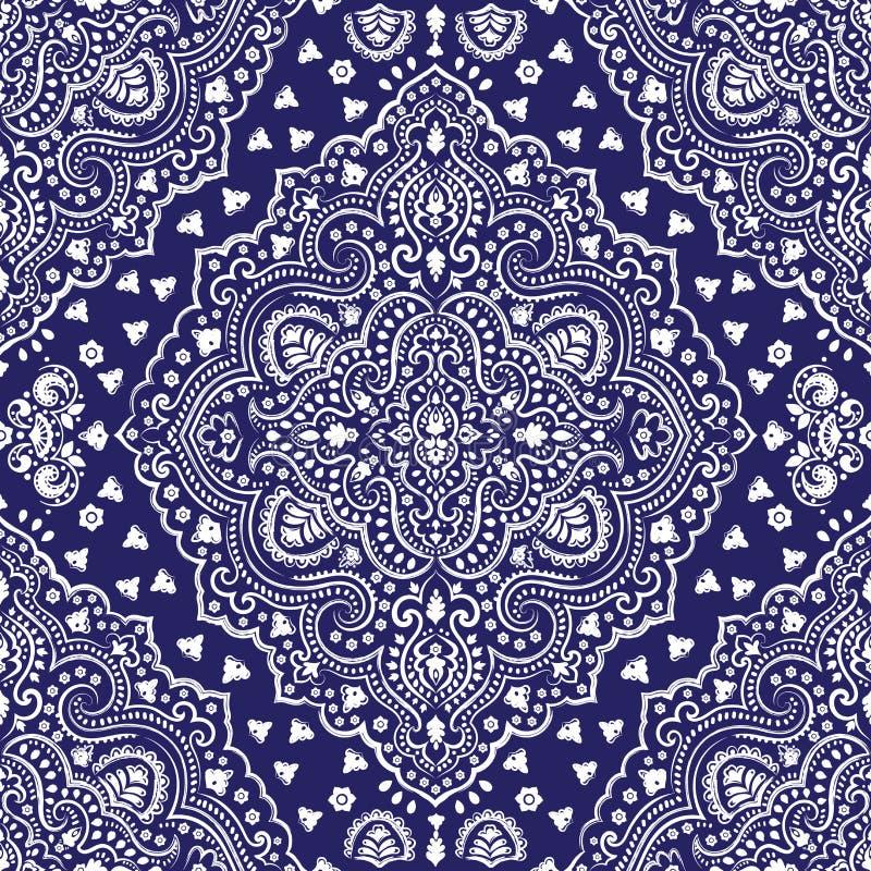 Härligt indiskt blom- paisley sömlöst prydnadtryck ethnic vektor illustrationer