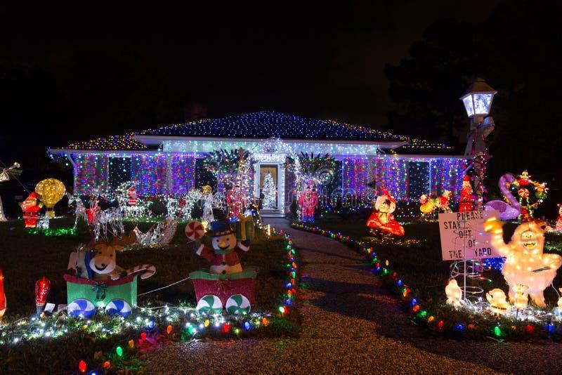 Härligt julljus i Houston, Texas fotografering för bildbyråer