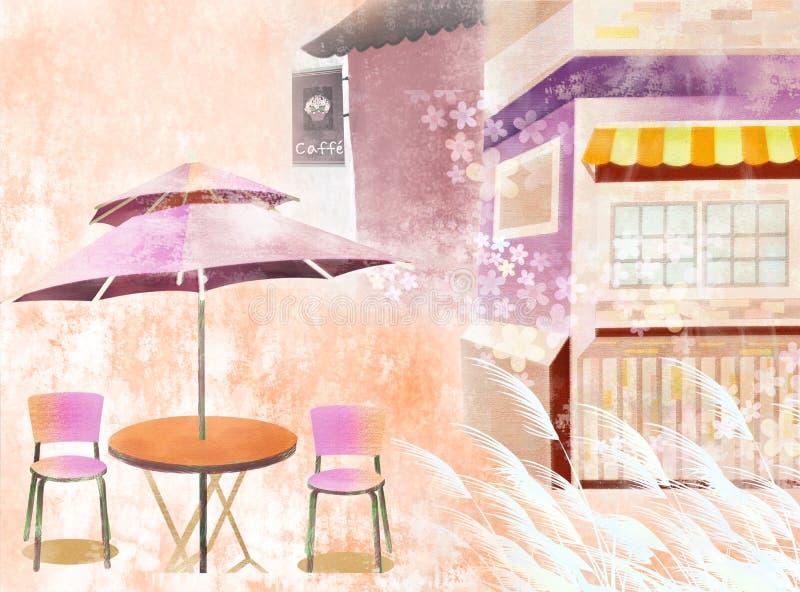 Härligt kafé royaltyfri illustrationer