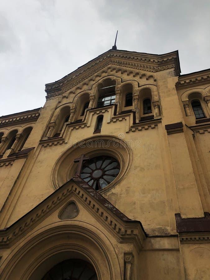 Härligt kapell i den gotiska stilen i Ryssland royaltyfri foto