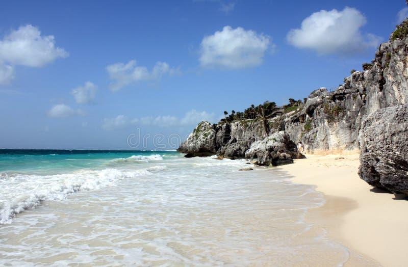 härligt karibiskt för strand arkivfoto