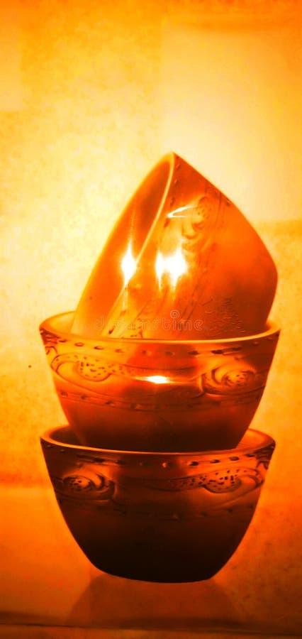 Härligt keramiskt flåsa för krukor royaltyfri bild