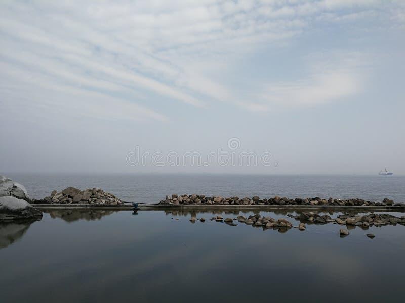Härligt kinesiskt hav royaltyfri foto
