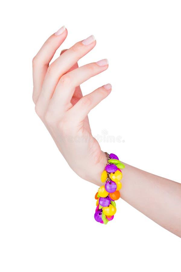 Härligt kvinnligt armband royaltyfri foto