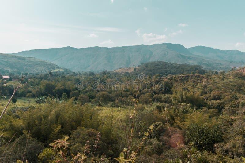 Härligt landskap av colombianska berg royaltyfria bilder